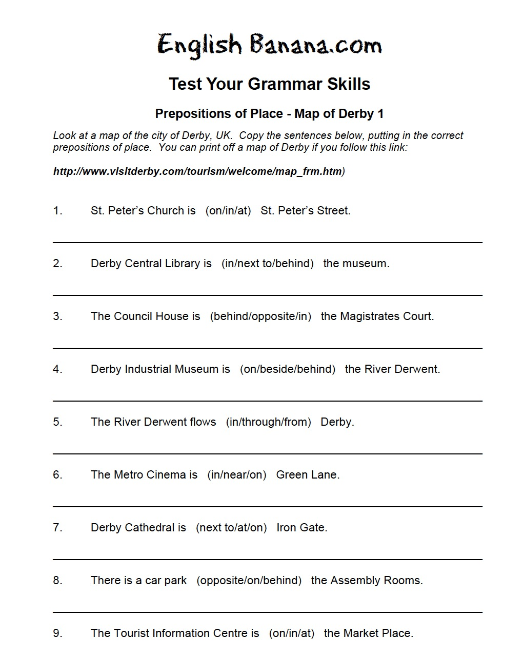 Worksheet Adverbs Of Place Worksheet Wosenly Free Worksheet – Preposition Worksheets Pdf