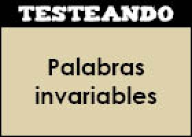 Palabras invariables | Recurso educativo 45906